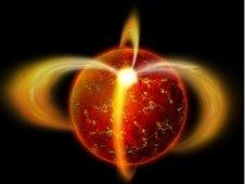 Artist concept of ancient pulsar J0108. Image credit: X-ray: NASA/CXC/Penn State/G.Pavlov et al. Optical: ESO/VLT/UCL/R.Mignani et al. Illustration: CXC/M. Weiss