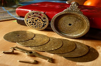 Disassembled 18th century astrolabe